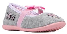 Туфли комнатные для девочки MINNIE MOUSE светло-серые Barkito