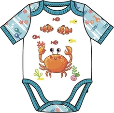 Комбинезон для мальчика Подводные жители голубой с рисунком Barkito