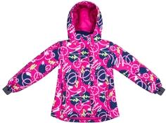 Куртка для девочки Фуксия с рисунком Barkito