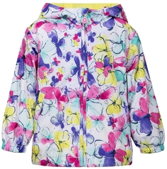 Куртка для девочки Белая с рисунком бабочки Barkito