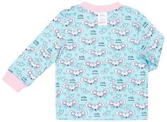 Пижама для девочки (фуфайка и брюки) Сновидения, цвет мятный с рисунком Barkito
