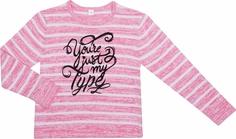Джемпер для девочки Милитари розовый с рисунком в полоску Barkito