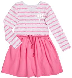 Платье детское Весенние бабочки, белое с розовым Barkito