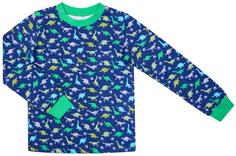 Пижама для мальчика Сновидения, цвет синий с рисунком динозаврики Barkito
