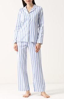 Хлопковая пижама в полоску Derek Rose