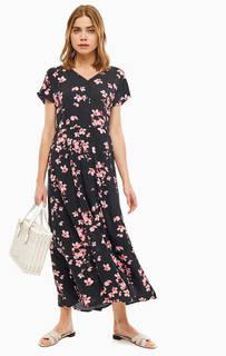 Платье-рубашка из вискозы с цветочным принтом B.Young