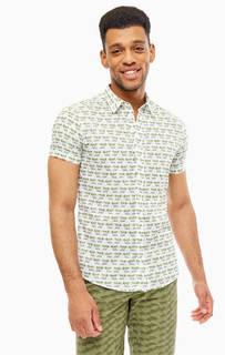 Рубашка Хлопковая приталенная рубашка с короткими рукавами United Colors of Benetton