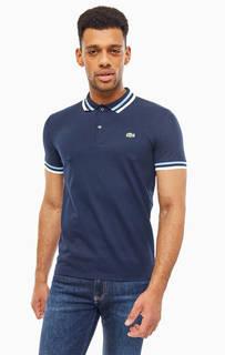 Футболка Поло Темно-синяя футболка поло с короткими рукавами Lacoste