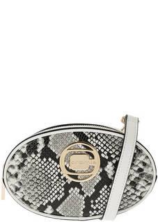 Сумка Маленькая кожаная сумка с выделкой под рептилию Cromia