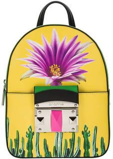 Рюкзак Кожаный рюкзак с цветочным принтом Cromia