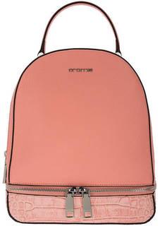 Рюкзак Коралловый кожаный рюкзак с двумя отделами Cromia