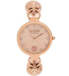 Часы с металлическим браслетом и круглым циферблатом Versus