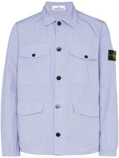 Stone Island куртка-рубашка с карманами