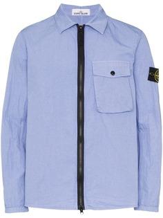 Stone Island куртка-рубашка на молнии