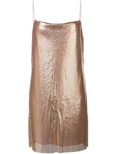 Alice+Olivia платье-комбинация Harmony с эффектом металлик