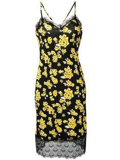 Michael Michael Kors платье-комбинация с цветочным принтом