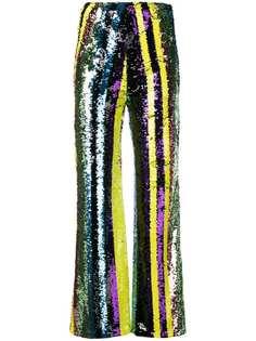 Jovonna брюки с вышивкой пайетками