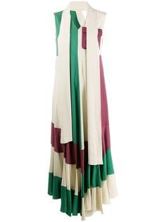 Golden Goose Deluxe Brand платье макси в стиле колор-блок