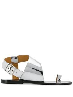 Isabel Marant сандалии с эффектом металлик