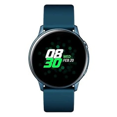 "Смарт-часы SAMSUNG Galaxy Watch Active, 39.5мм, 1.1"", зеленый / зеленый [sm-r500nzgaser]"