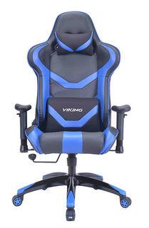 Кресло игровое БЮРОКРАТ CH-772N, на колесиках, искусственная кожа [ch-772n/bl+blue]