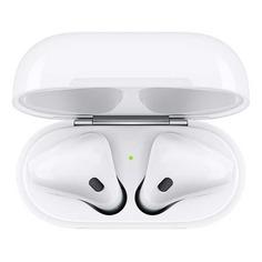 Наушники с микрофоном APPLE AirPods, with Charging Case, MV7N2RU/A, Bluetooth, вкладыши, белый
