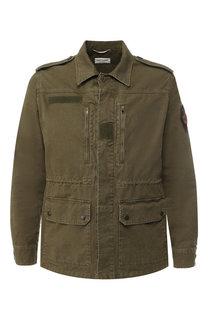 Хлопковая куртка на пуговицах Saint Laurent