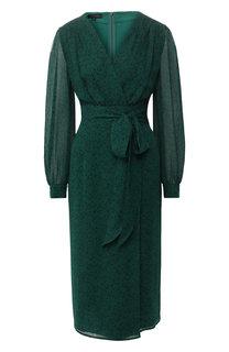 Платье из вискозы с принтом Escada