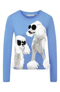 Хлопковый пуловер Alice + Olivia