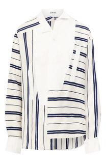 Рубашка из смеси льна и хлопка Loewe