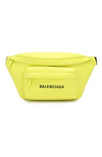 Кожаная поясная сумка Everyday Balenciaga