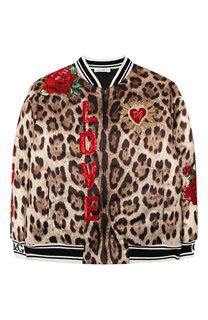 Пуховый бомбер Dolce & Gabbana