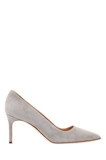 Замшевые туфли BB серого цвета Manolo Blahnik