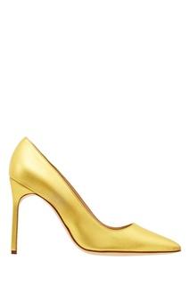 Золотистые туфли BB Manolo Blahnik