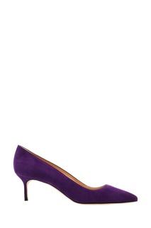 Фиолетовые туфли BB из замши Manolo Blahnik