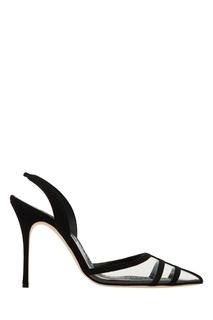 Черные комбинированные туфли Gotrianci Manolo Blahnik