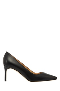 Черные кожаные туфли BB Manolo Blahnik