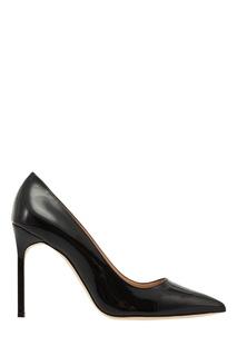 Лакированные черные туфли BB Manolo Blahnik