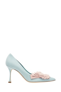 Голубые туфли Josima с отделкой Manolo Blahnik