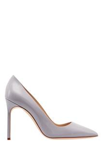 Серые лакированные туфли BB Manolo Blahnik