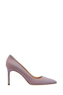 Розовые туфли BB с блеском Manolo Blahnik