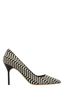 Черно-белые туфли BB Manolo Blahnik