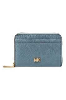 Голубой кошелек на молнии Michael Kors