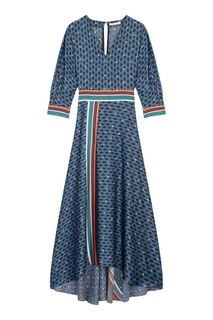 Комбинированное платье-макси Maje