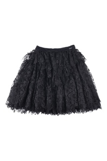 Черная юбка с кружевом Dsquared 2 Children