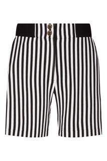 baa8736fd6aa Короткие шорты в полоску Terekhov Girl черно-белые