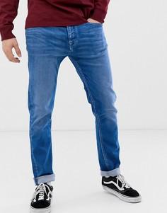 Ярко-синие узкие джинсы Kings of Indigo John - Синий