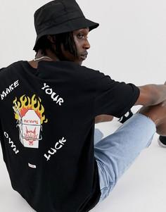 Черная футболка с принтом на груди и спине Globe Fortune - Черный
