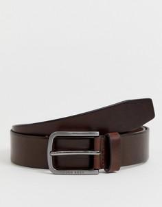 Темно-коричневый кожаный ремень BOSS Serafy - Коричневый