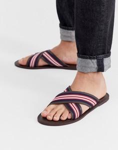 Коричневые сандалии с перекрестными ремешками KG by Kurt Geiger - Коричневый